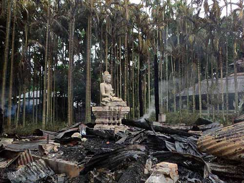 Destroyed Buddhist Temple s in Bangladesh